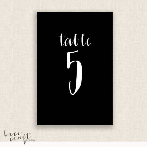diy printable table numbers 4x6 digital design numbers 1 20 in