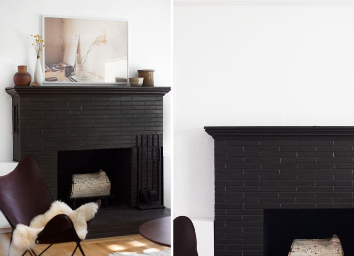 Seriously This Fireplace Amazes Me Can Has White Brick Fireplace Black Fireplace Black Brick Fireplace