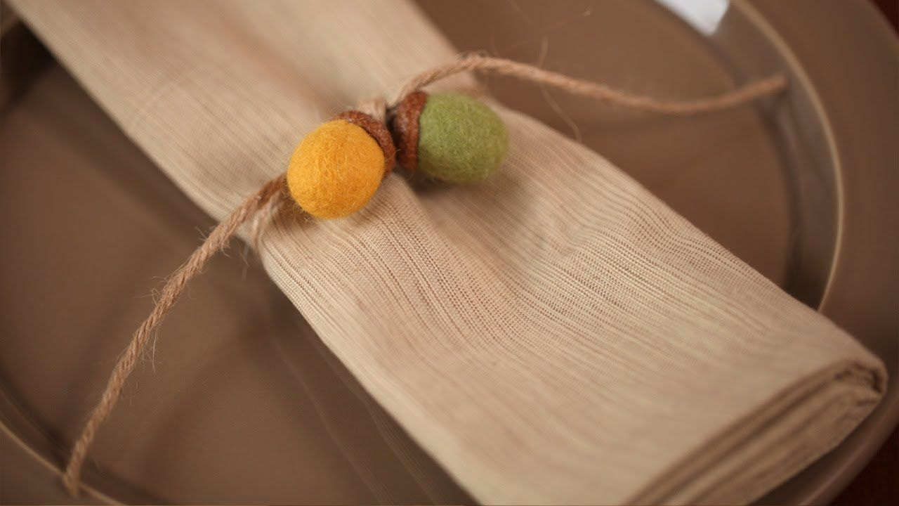 How to make felted acorn napkin rings kid friendly diy craft how to make felted acorn napkin rings kid friendly diy craft kin solutioingenieria Gallery