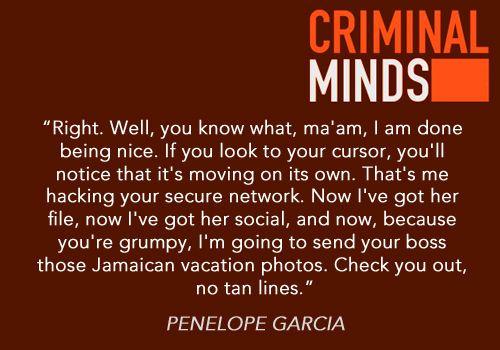 Lol Criminal Minds.... Imagine If Garcia Met Felicity From Arrow... Iu0027d Be  Afraid .. Very Afraid.