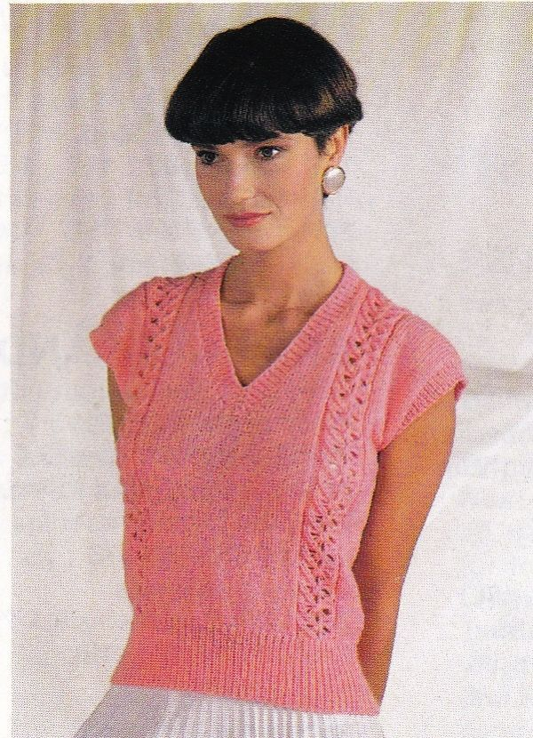 Vintage Knitting Pattern Instructions For A Ladies Childs Spring