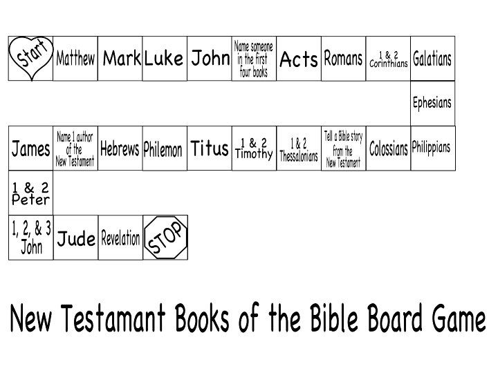 new testament books of the bible board game