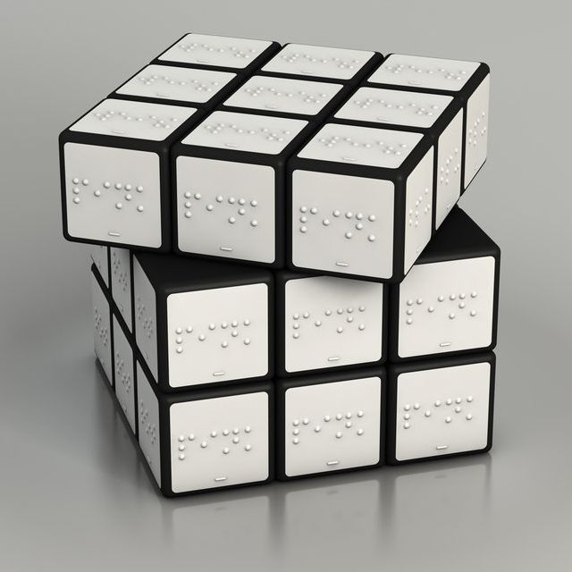 Rubicks Cube for the blind - so cool ♥
