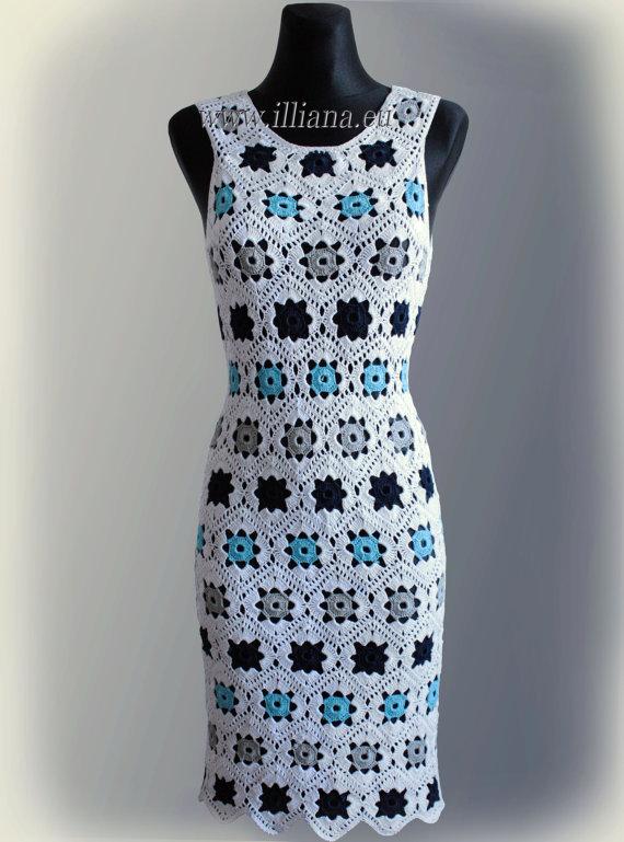 Dress. Crochet Pattern No 229 | Patrón de ganchillo, Ganchillo y ...