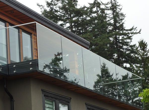 Frameless Glass Deck Exterior Stairs Glass Balcony Glass Railing