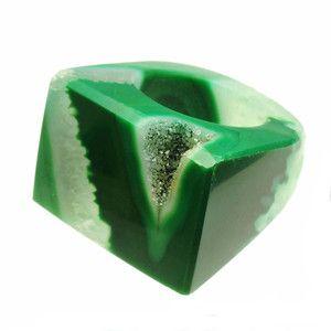 Agate Ring Green One OAK