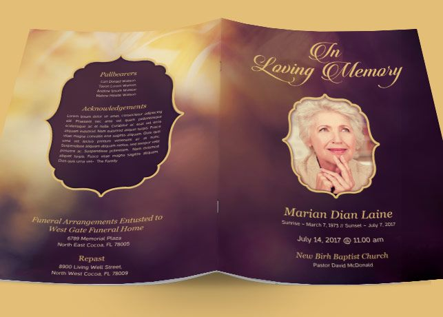 funeral program - Google Search KD Kreations Pinterest - free funeral pamphlet template