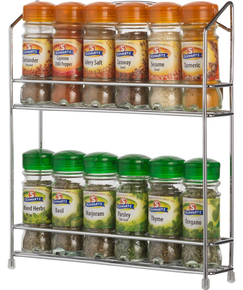 Buy Wall Mountable Wire 12 Jar Spice Rack At Argos.co.uk   Your