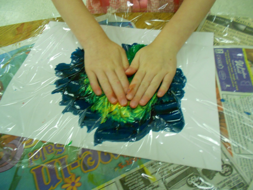 Explorations in Art: (KG) Mixed-media flowers