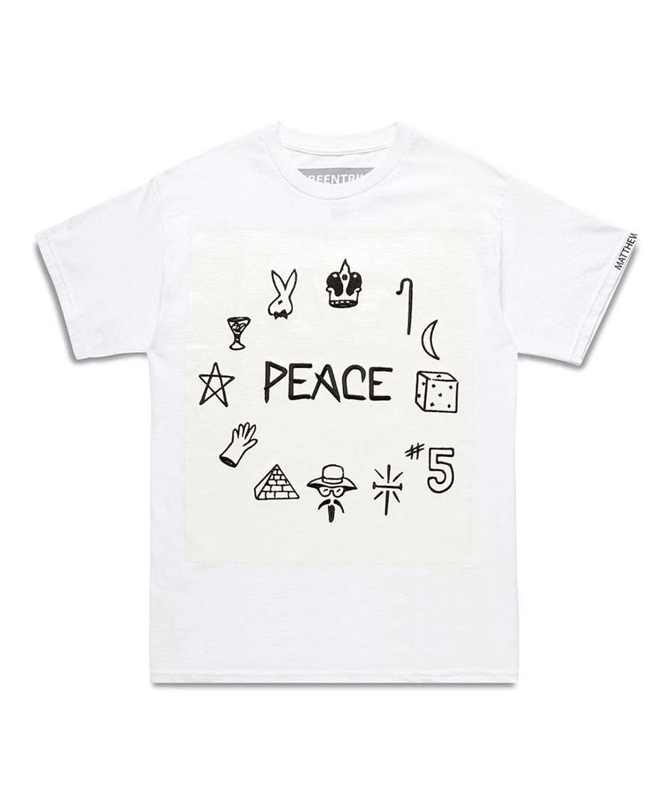 """BEEN TRILL """"PEACE"""" S/S WHITE T-SHIRT-SS14BT2 - Sneakerboy"""