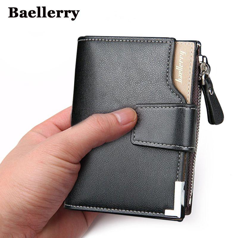 80d0c9da0b0e3 Baellerry marki Portfel mężczyźni skórzana mężczyzn portfele portfel krótki  mężczyzna sprzęgła skórzany portfel mężczyzna worek pieniędzy gwarancja  jakości
