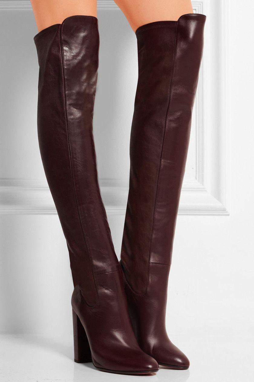 Aquazzura  Kensington leather overtheknee boots