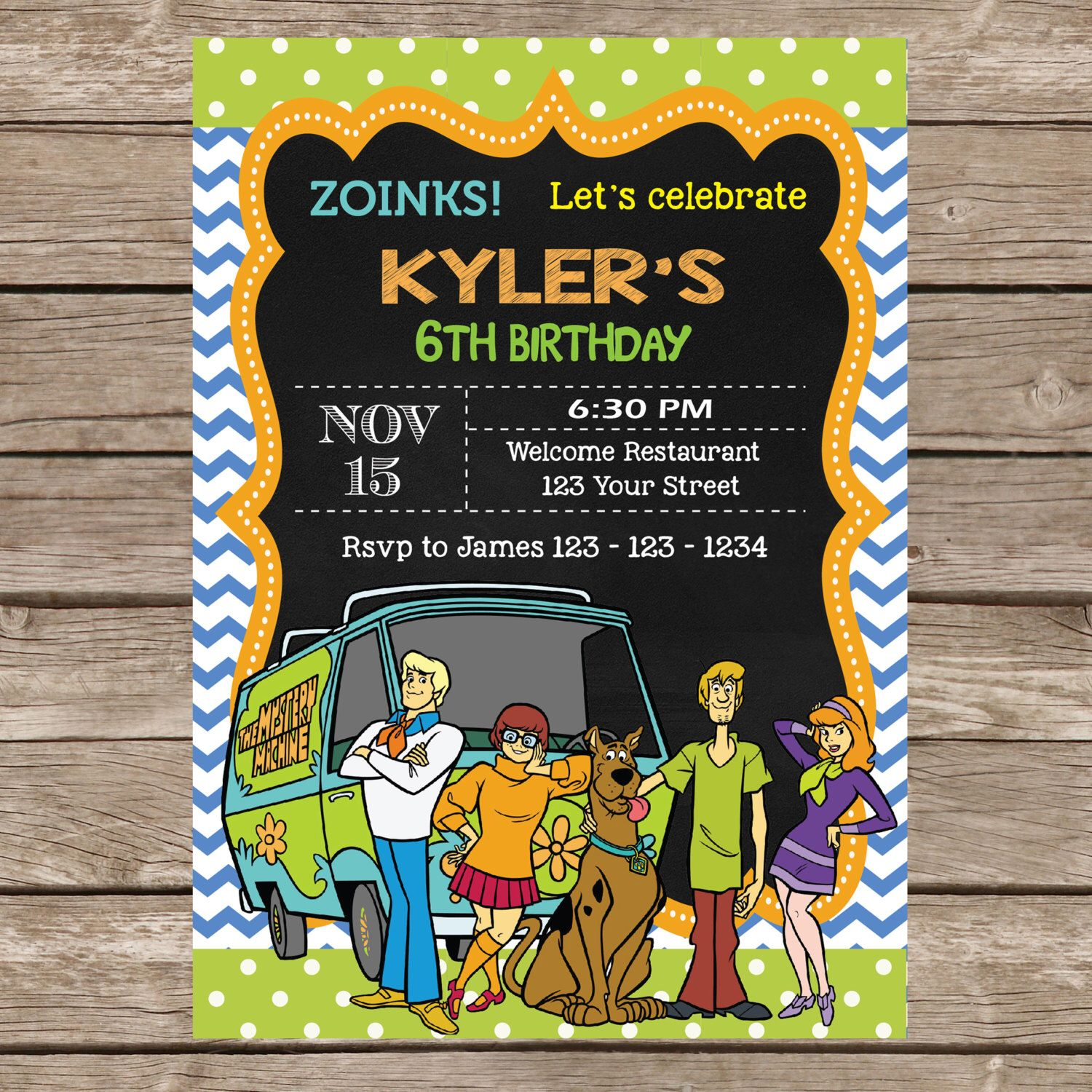 Scooby Doo Invitation . Printable/Digital File P205 by ...