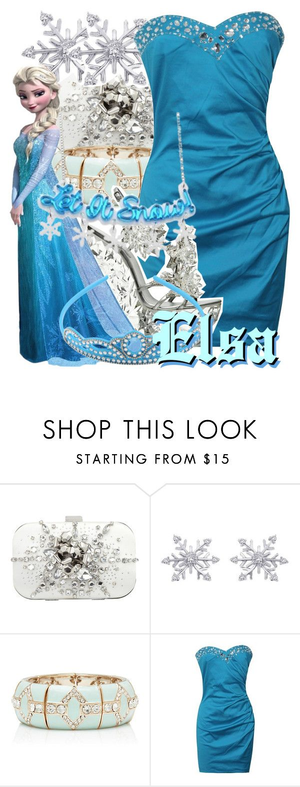 """""""Elsa from Frozen"""" by likeghostsinthesnow ❤ liked on Polyvore featuring Forever New, Lipsy and Casadei"""