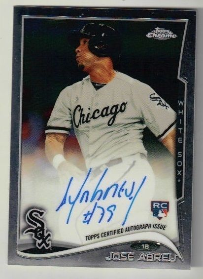 2014 Topps Chrome Baseball Jose Abreu Auto Rookie Card