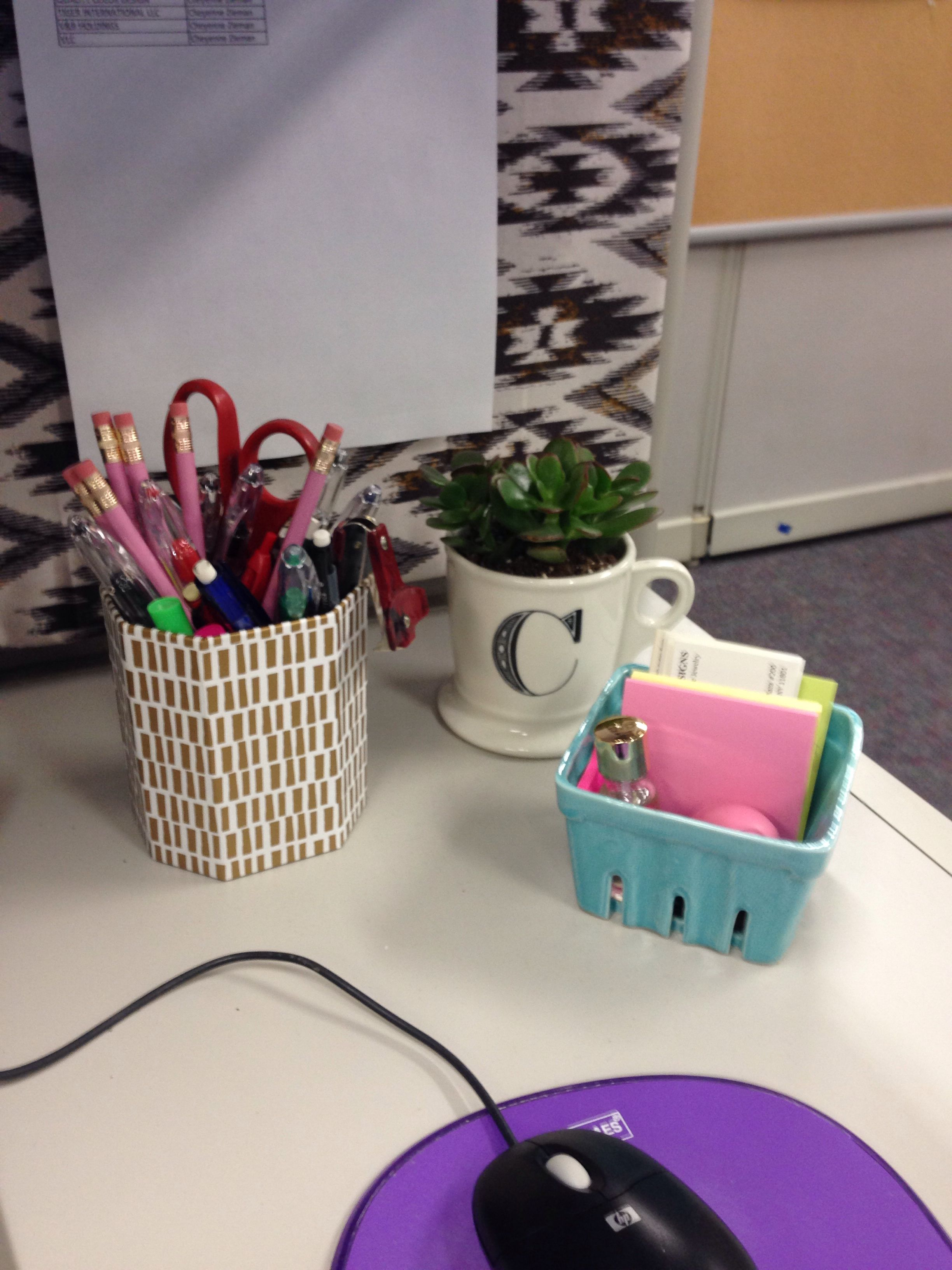 Cubicle decor desk accessories for the home pinterest for Cubicle planter box