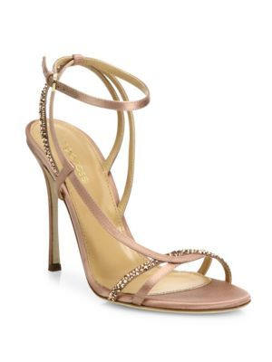 SERGIO ROSSI Lexington Swarovski Crystal Strappy Sandals. #sergiorossi # shoes #sandals