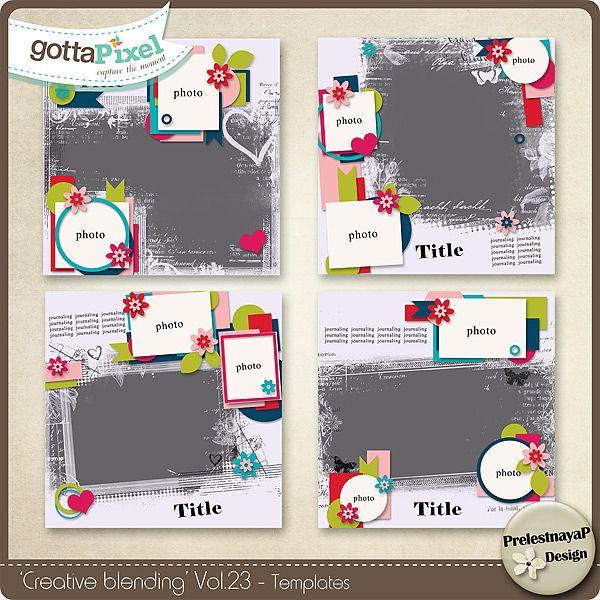 Designer Spotlight & Daily Download 2/28/16 - Gotta Pixel Store :: Creative Blending Templates Vol.23 by PrelestnayaP Designs