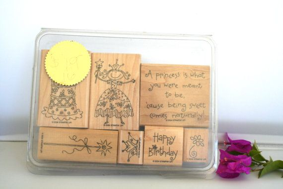 Stampin UP Pretty Princess Retired USED by MyCreativePossession, $7.95
