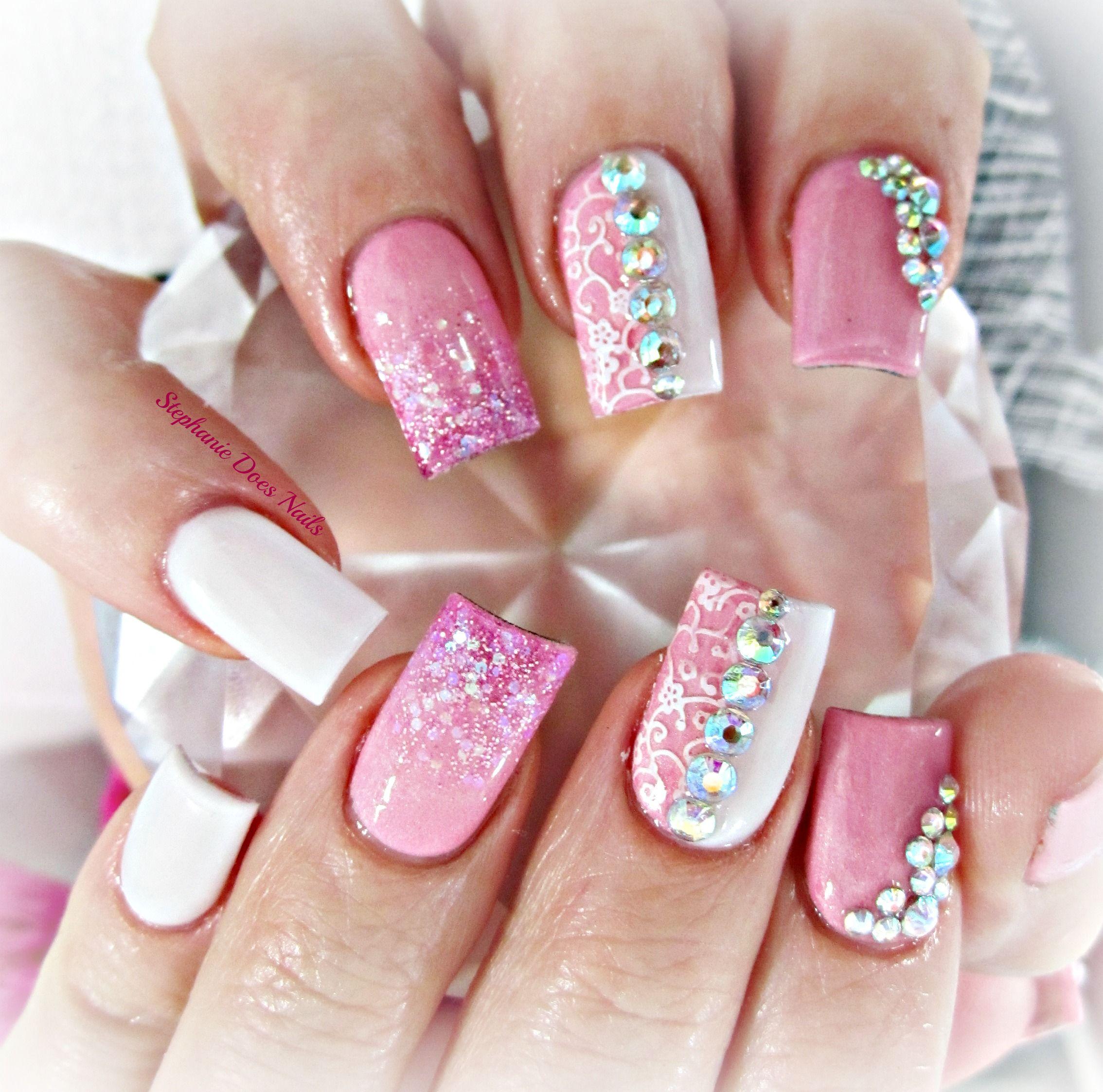 Girly Nail Art: Acrylic Nails, Nail