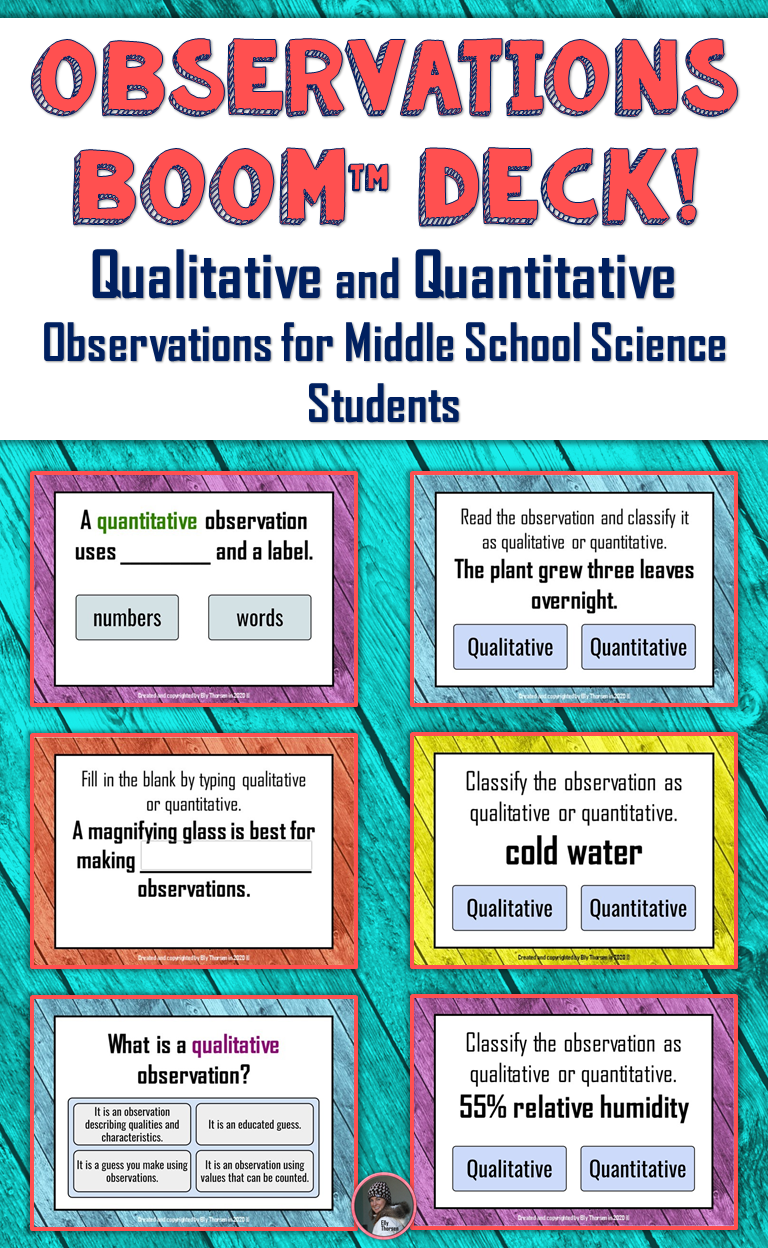 Qualitative and Quantitative Observations Digital Task ...
