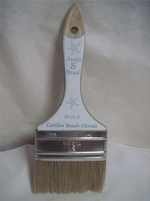 e3ca9456a Beach Wedding Sand Brush Stickers - Customized I print U stick - DIY for your  Wedding