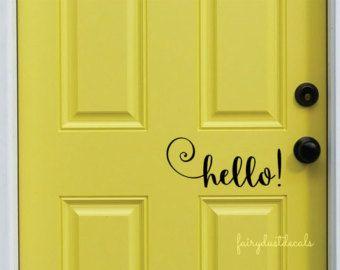 Hello door decal \u2013 Etsy & Hello door decal \u2013 Etsy | Crafty Ideas... | Pinterest | Front ...