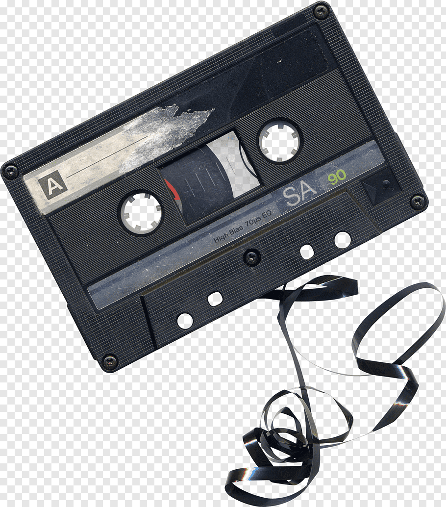 Black Cassette Tape Damaged Audio Cassette Free Png Cassette Tapes Audio Cassette Cassette Tape Recorder