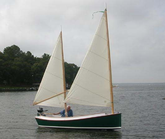 The CATBIRD 16 is a cruising sharpie of easily trailerable ...