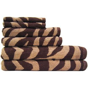 Better Homes And Gardens Piece Zebra Bath Towel Collection - Zebra bath towels for small bathroom ideas