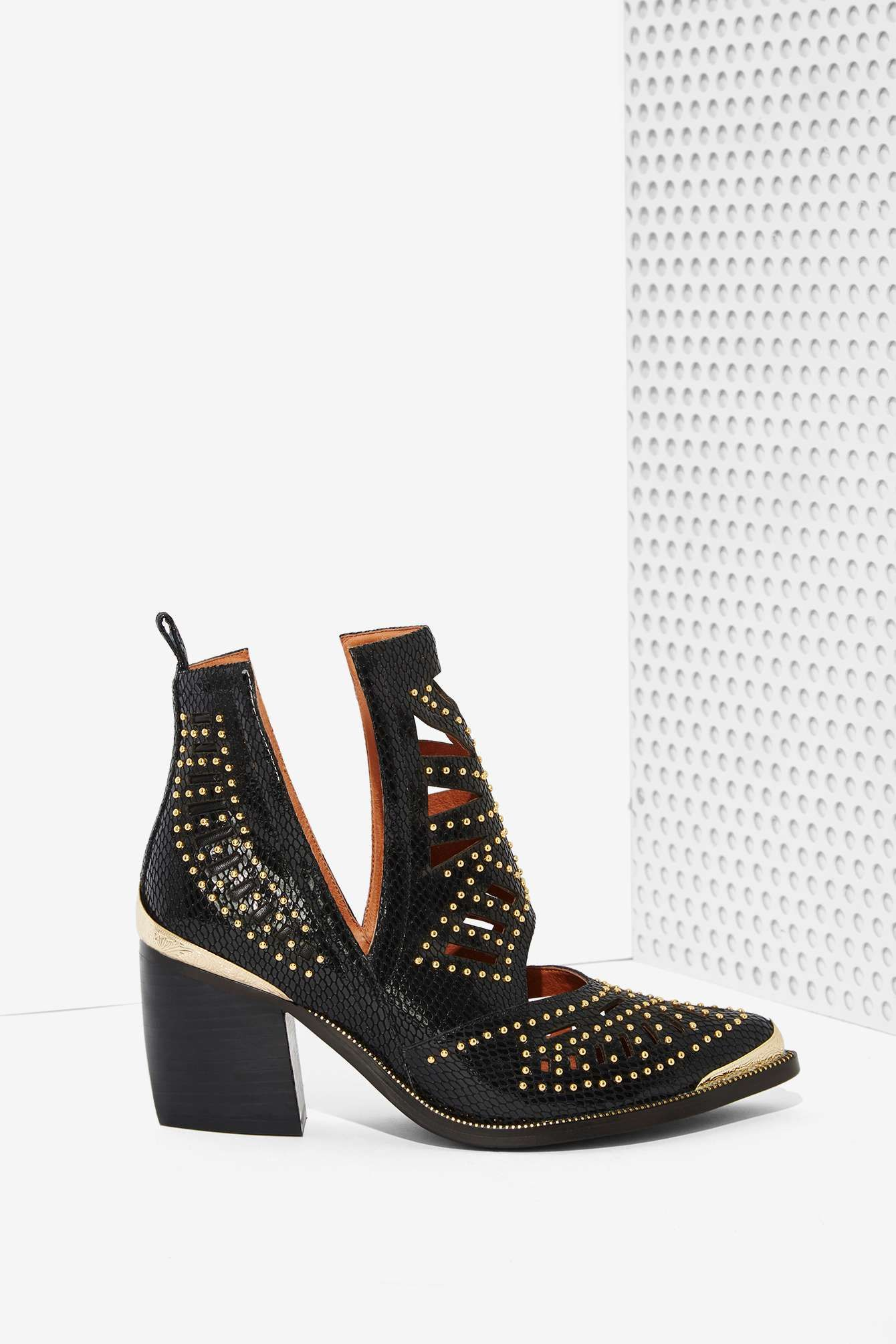 Jeffrey Campbell Maceo Cutout Leather Boot  Shop Shoes at Nasty Gal