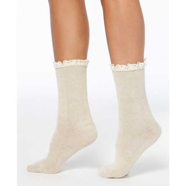 Hue Women S Lace Trim Space Dyed Boot Socks 5 230 Clp Liked On Polyvore Featuring Intimates Hosiery Socks Ivory Hue S Women Lace Lace Trim Frilly Socks