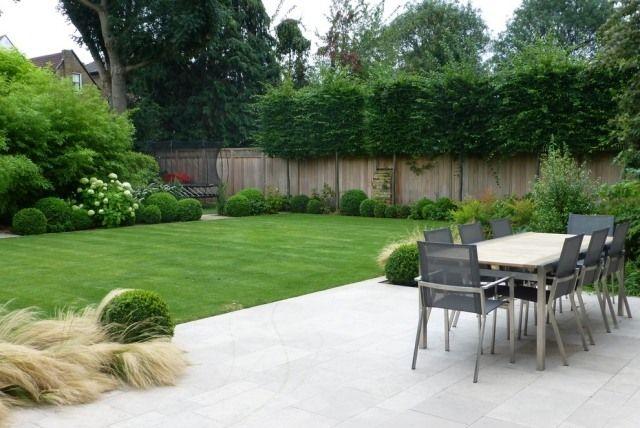 Zeitgenössische Garten Gestaltung Terrasse Sichtschutz Pflanzen