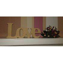 Palavra Love 12cm De Altura Em Mdf Cru