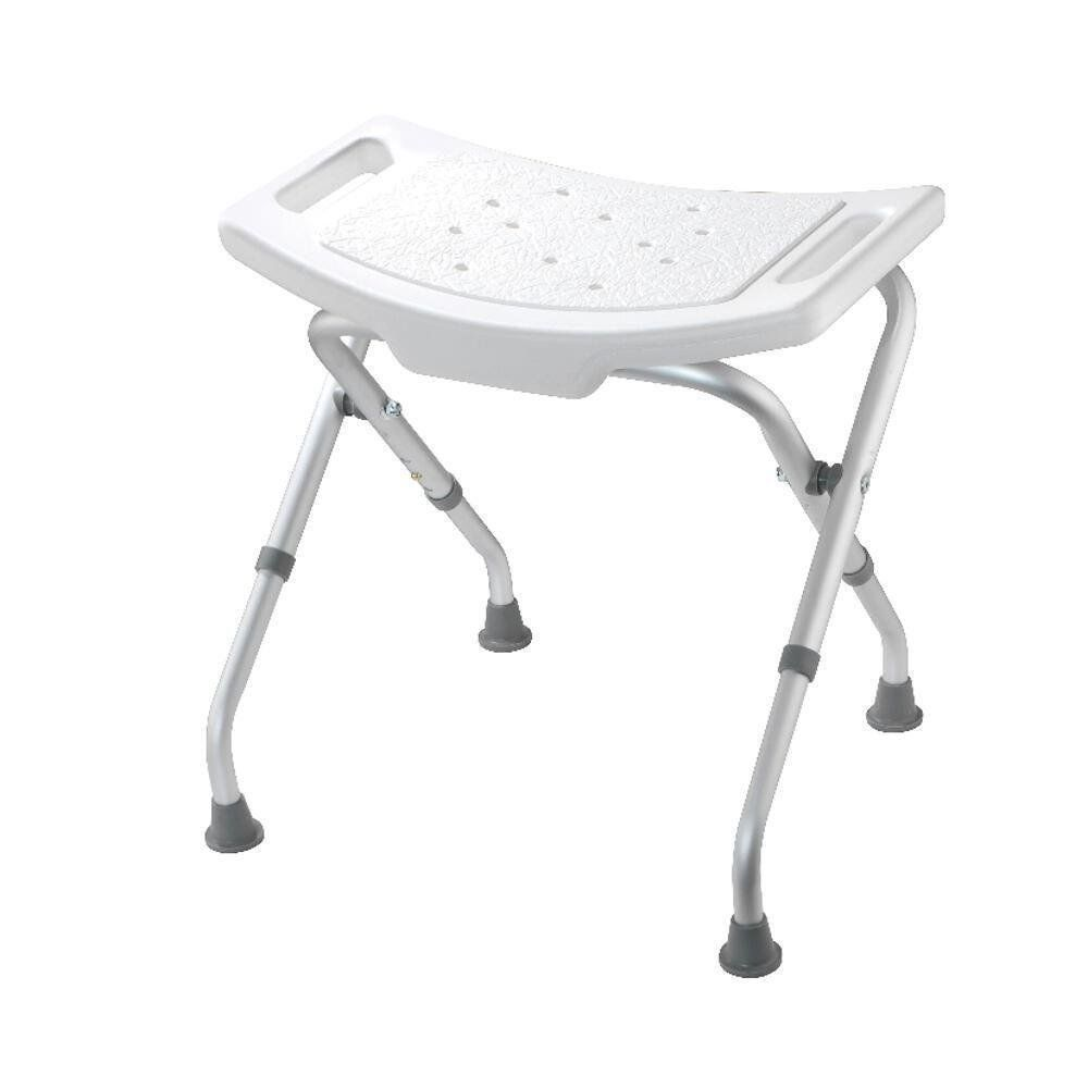 Croydex Adjustable Bath and Shower Seat in White, Silver | Shower ...