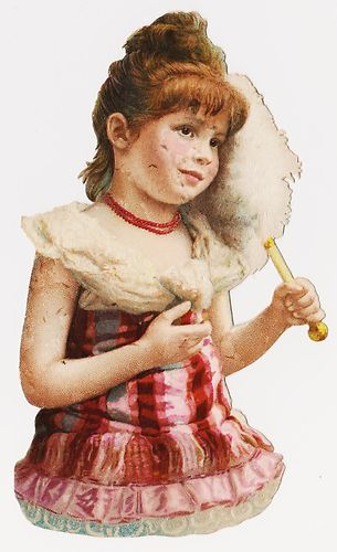 Victorian scrap - Child with Fan