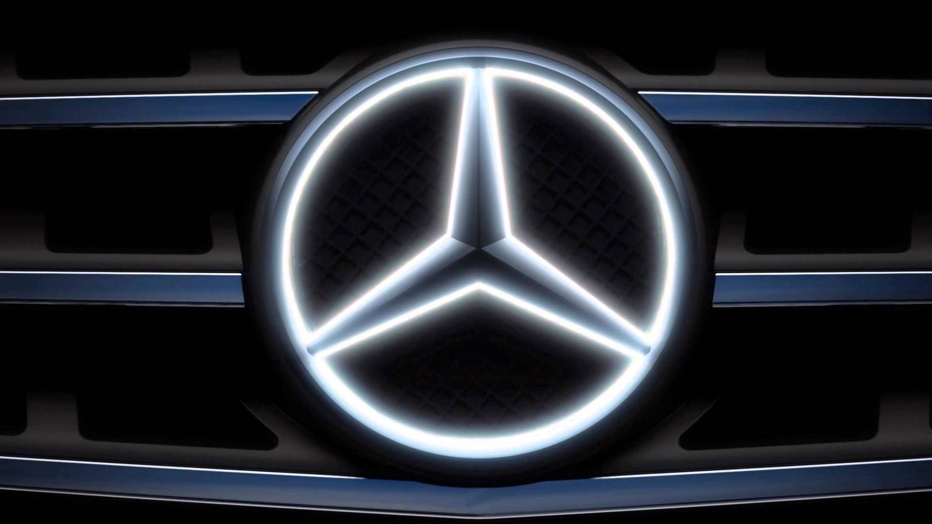 Glowing 3 Pointed Mercedes Benz Star The 3 Pointed Star Stands