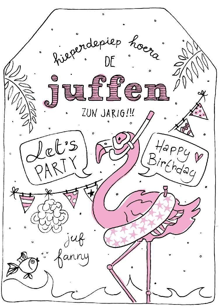verjaardagskaartje voor de juf illustration