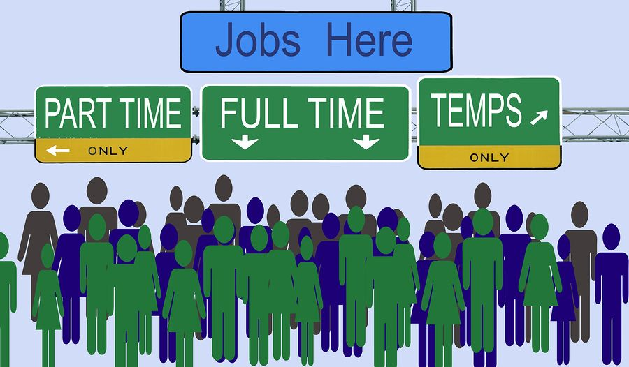 The difference between full time, part time, casual and