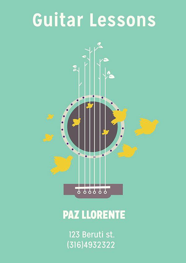 Guitar lessons flyer design graphic design inspiration pinterest graphic design - Flyer design inspiration ...