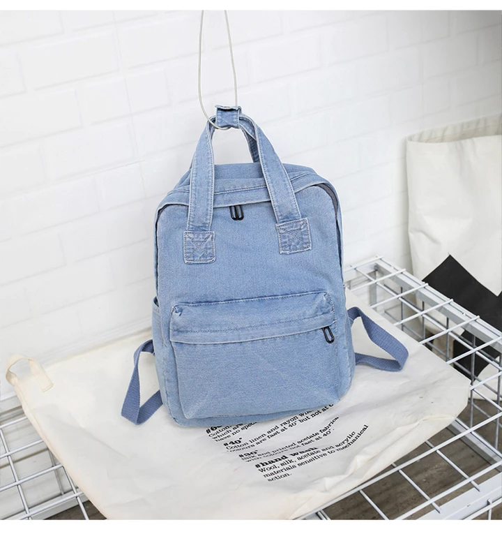'The Denim' - Casual Denim Backpack #backpacks