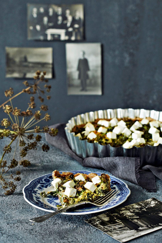 Lehtikaali-vuohenjuustopiirakka   K-ruoka #kaali