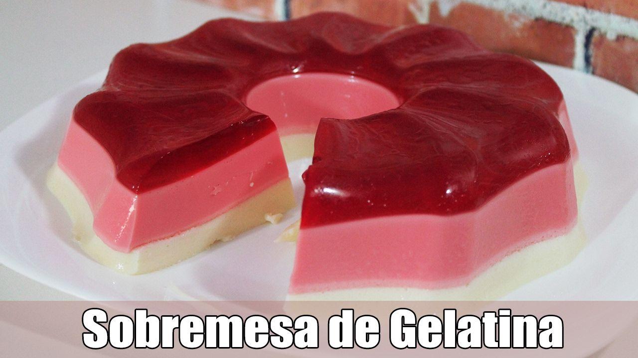 Sobremesa com gelatina