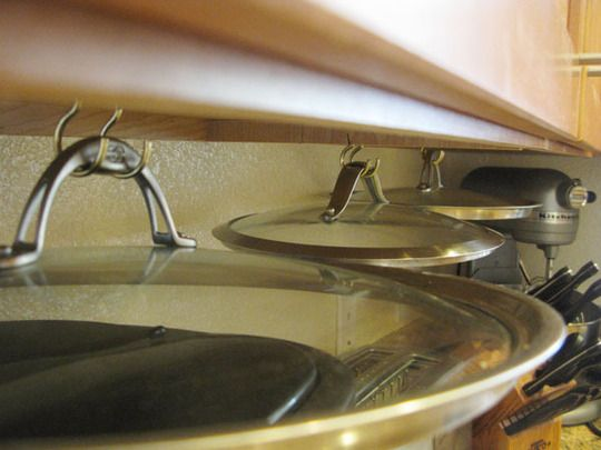 Smart Pot Lid Storage Flying Saucers Under The Cabinets