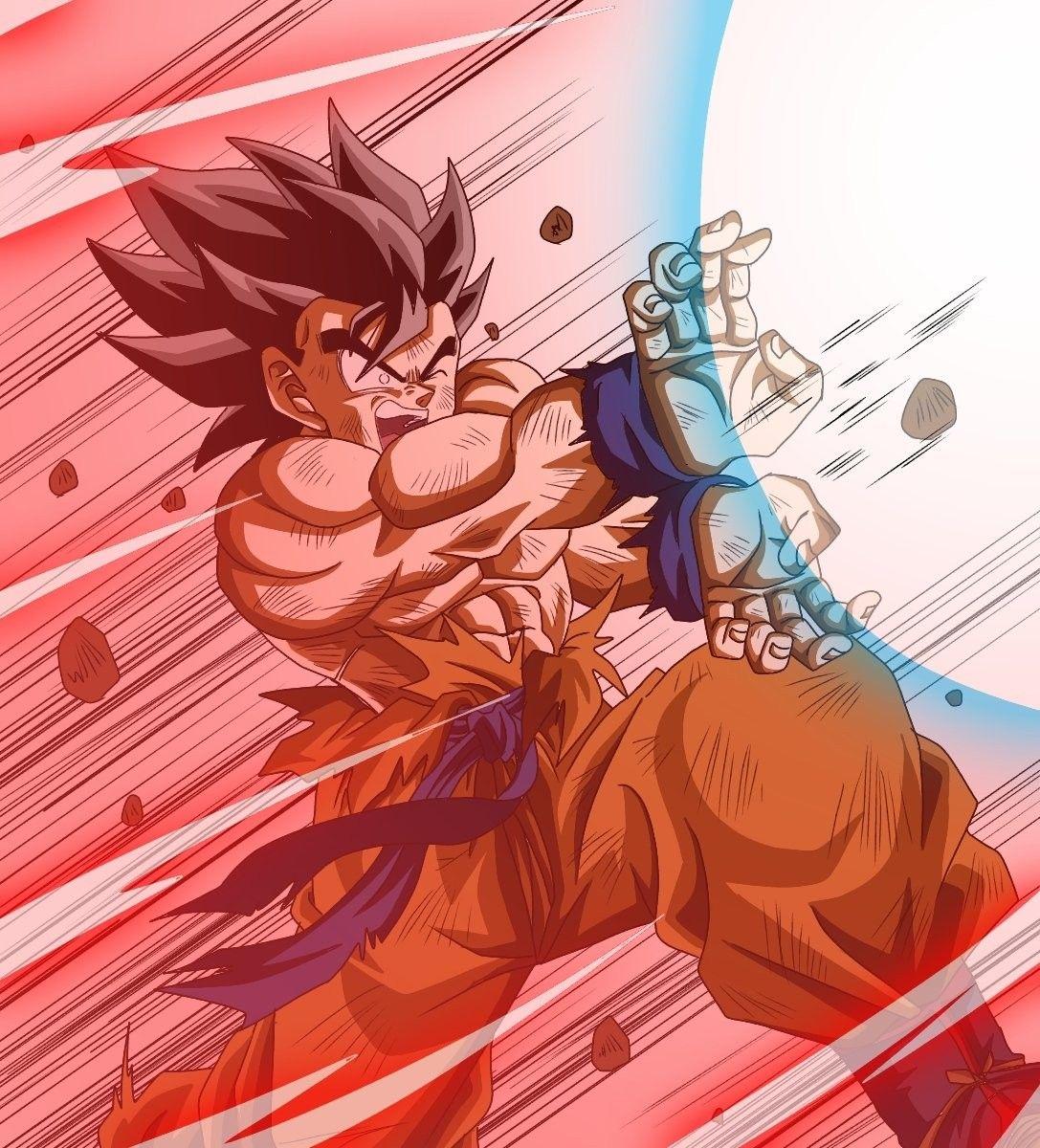 Goku Con Kaioken Haciendo Un Kamehameha Anime Dragon Ball Super Dragon Ball Super Goku Anime Dragon Ball
