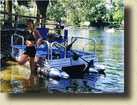 Personal pontoon lil sport 510 pontoon boats mid mini for Pond fishing boats