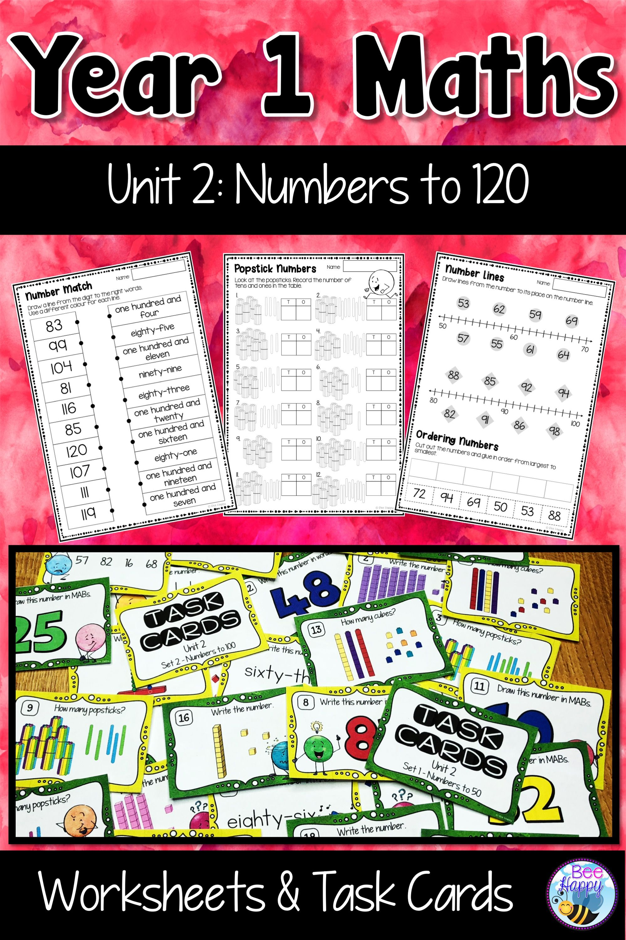 Australian Curriculum Numbers To 120 Worksheets And Task