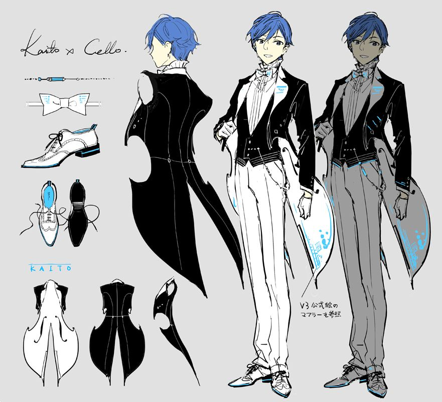 Miku Symphony 2018 Kaito X Cello Anime Character Design Character Design Inspiration Anime Outfits