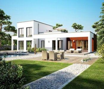 flachdach bungalow haus im bauhaus stil mit galerie pergola und dachterrasse einfamilienhaus