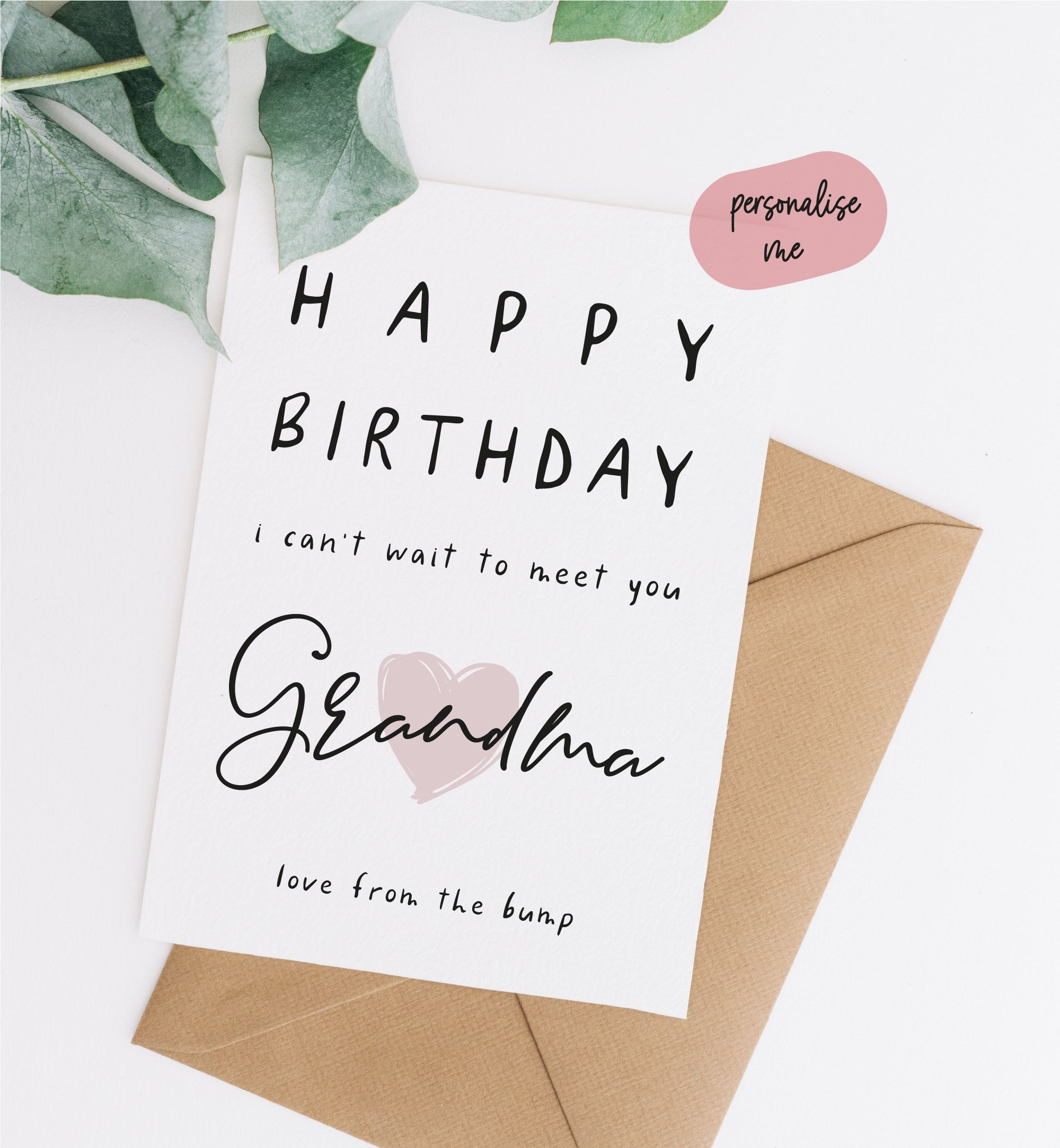 Birthday Card From The Bump Birthday Card From The Bump To Grandma Birthday Card For Gran Birth Happy Birthday Daddy Card Daddy Birthday Card Birthday Cards